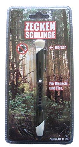 Bonetti Zeckenschlinge in Kugelschreiberform Zecken Schlinge Stift (Schwarz)