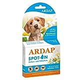 ARDAP Spot On für Hunde unter 10kg - Bis zu 12 Wochen nachhaltiger Langzeitschutz - Natürlicher Wirkstoff gegen Zecken & Flöhe