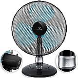 KESSER® - Tischventilator 42cm Ventilator mit 3-Leistungsstufen | Leise Betrieb | Oszillation ca. 85° | Neigungswinkel 30° | Windmaschine | Luftkühler | Geringes Betriebsgeräusch, Schwarz