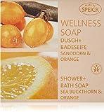 Speick Wellness Soap Dusch und Badeseife Sanddorn + Orange, 200 g