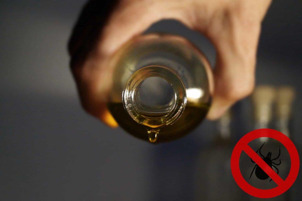 Zecke nicht mit Öl entfernen