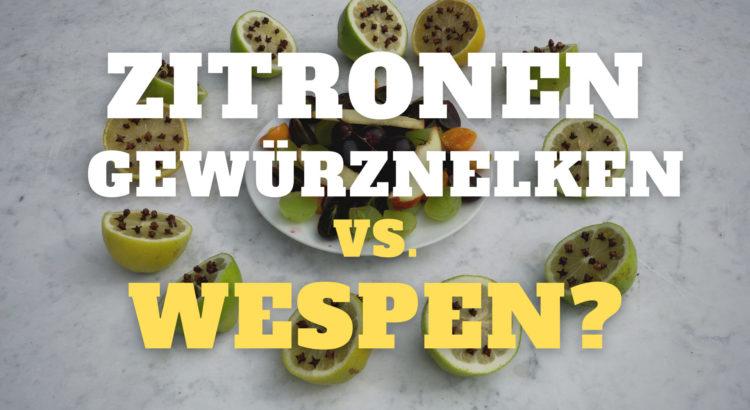 Zitronen und Gewürznelken vs. Wespen?